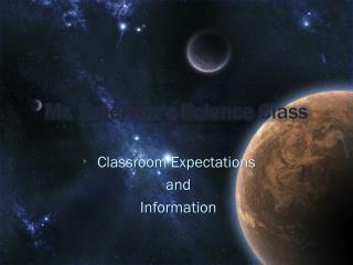 Mr. Emerson's Science Class