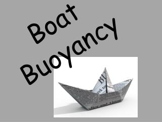Boat Buoyancy