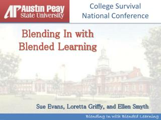 Blending In with Blended Learning