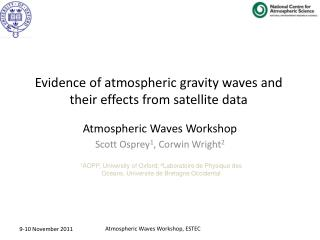 Atmospheric Waves Workshop