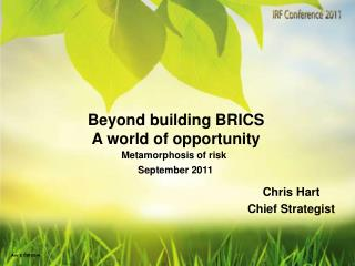 Beyond building BRICS A world of opportunity