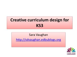 Creative curriculum design for KS3