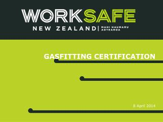 Gasfitting certification