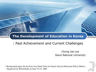 The Development of Education in Korea