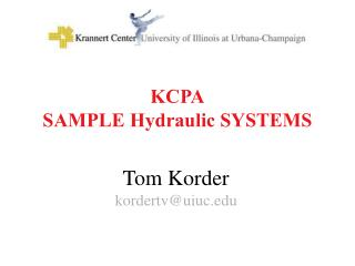 KCPA SAMPLE Hydraulic SYSTEMS