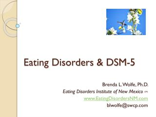 Eating Disorders & DSM-5