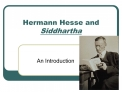 Hermann Hesse and Siddhartha
