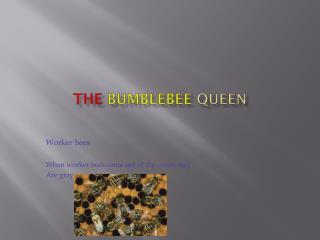 The Bumblebee Q ueen