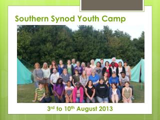 Southern Synod Youth Camp