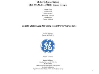 Google Mobile App for Compressor Performance (GE)