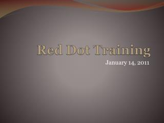 Red Dot Training