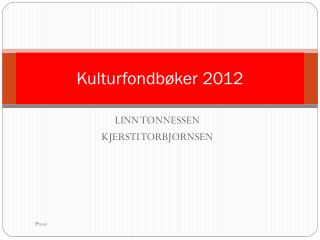 Kulturfondbøker 2012