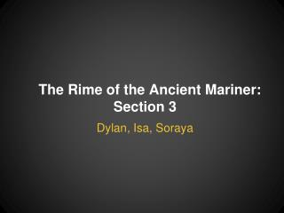 The Rime of the Ancient Mariner: Section 3