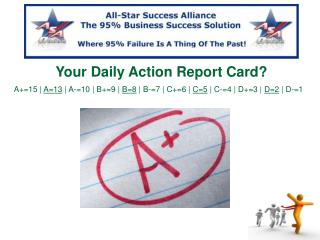 Your  Daily Action Report Card?