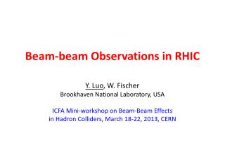 Beam-beam Observations in RHIC
