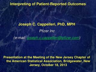 Interpreting of Patient-Reported Outcomes