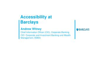 Accessibility at Barclays
