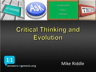 Critical Thinking and Evolution