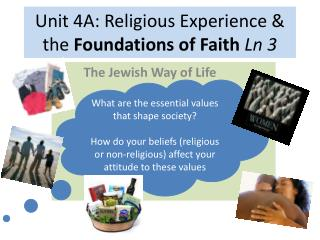Unit 4A: Religious Experience & the  Foundations of Faith  Ln  3