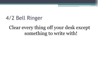 4/2 Bell Ringer
