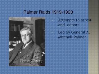 Palmer Raids 1919-1920