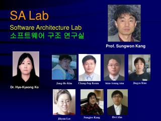 SA Lab Software Architecture Lab 소프트웨어 구조 연구실
