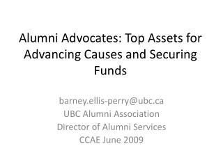Alumni Advocates: Top Assets for Advancing Causes and Securing Funds