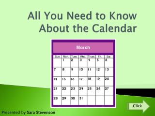All You Need to Know About the Calendar