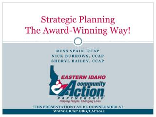 Strategic Planning The Award-Winning Way!