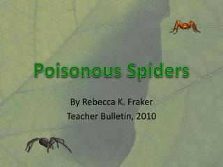 Poisonous Spiders