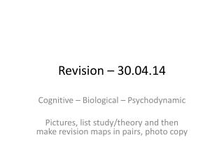 Revision – 30.04.14