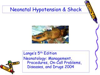 Neonatal Hypotension & Shock