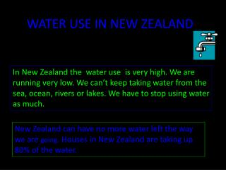 WATER USE IN NEW ZEALAND