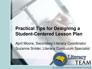 Practical Tips for Designing a Student-Centered Lesson Plan