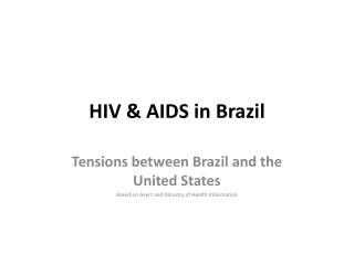 HIV & AIDS in Brazil