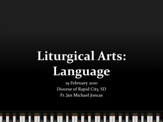 Liturgical Arts: Language