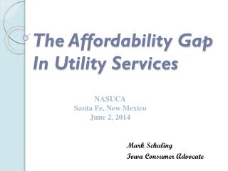 The  Affordability Gap  In Utility Services