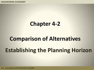 Chapter  4-2 Comparison of Alternatives