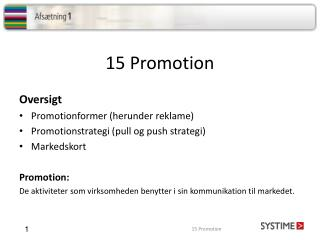 15 Promotion