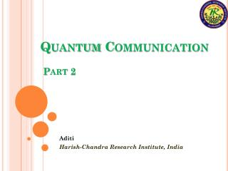 Quantum Communication  Part 2
