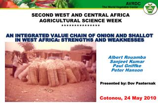 An  integrated  value  chain  of  onion  and  shallot  in  west africa :  strengths  and  weaknesses