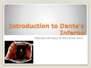Introduction to Dante's Inferno
