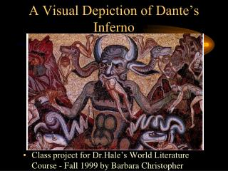 A Visual Depiction of Dante's Inferno