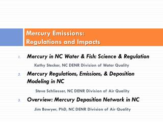 Mercury Emissions: Regulations and Impacts
