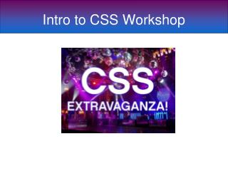 Intro to CSS Workshop