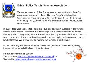 British Police Tenpin Bowling Association