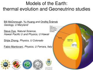 Models of the Earth: thermal evolution and Geoneutrino studies