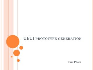 UI/UI prototype generation