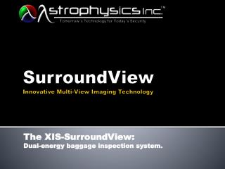 SurroundView Innovative  Multi-View Imaging  Technology