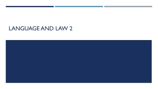 LANGUAGE AND LAW 2